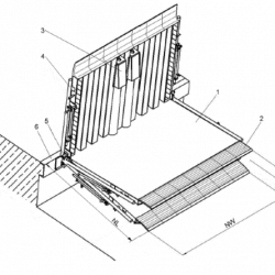 mechaninis pakeliamasisi tiltas,aikštelė
