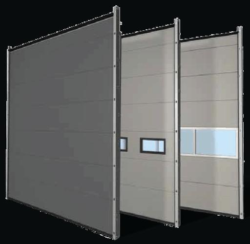 segmentiniai pramoniniai garažo vartai