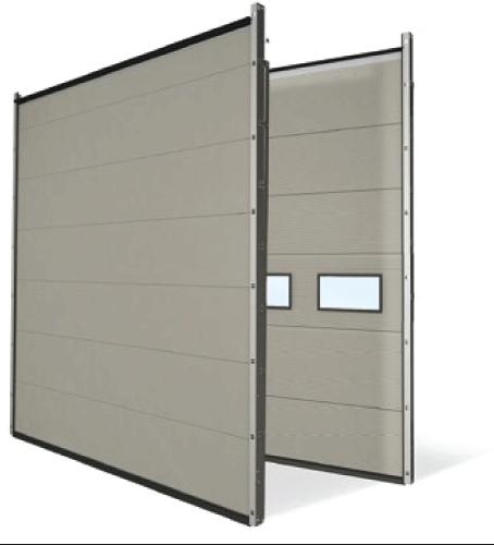 segmentiniai pramoniniai vartai ISO 80 mm storio